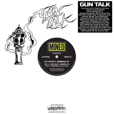 DJ T-Cuts - Guntalk ft General TK / Guntalk Instrumental - Unearthed Sounds