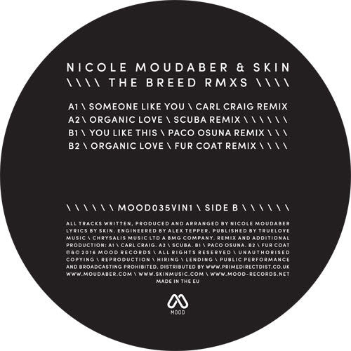 Nicole Moudaber & Skin - The Breed Remixes , Vinyl - Mood Records, Unearthed Sounds