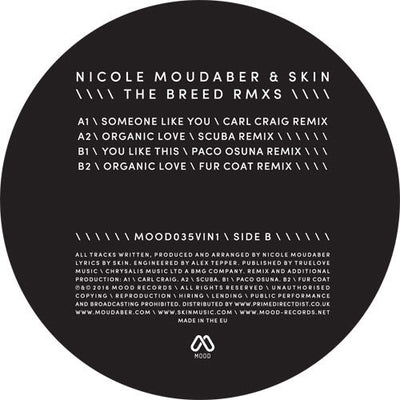 Nicole Moudaber & Skin - The Breed Remixes - Unearthed Sounds
