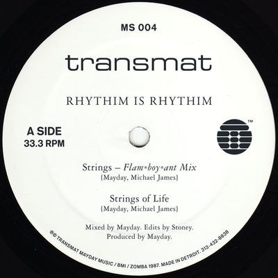 Rhythim Is Rhythim - Strings Of Life , Vinyl - Transmat, Unearthed Sounds