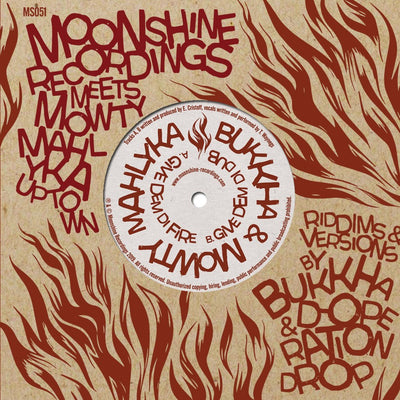 "Moonshine Recordings Meets: Mowty Mahlyka Uptown ft Bukkha & D-Operation Drop [2x7""] - Unearthed Sounds"