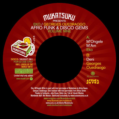 EKO & Georges Ouedraogo - Afro Funk & Disco Gems Volume Nine - Unearthed Sounds