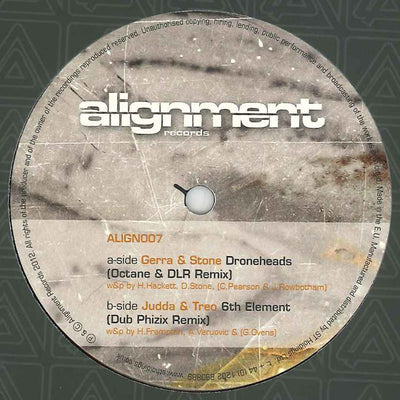 Gerra & Stone / Judda & Treo ‎- Droneheads (Octane & DLR Remix) / 6th Element (Dub Phizix Remix) - Unearthed Sounds