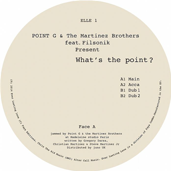 Point G & The Martinez Brothers (feat. Filsonik) - What's the Point? - Unearthed Sounds