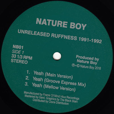 Nature Boy - Unreleased Ruffness 1991-1992 - Unearthed Sounds