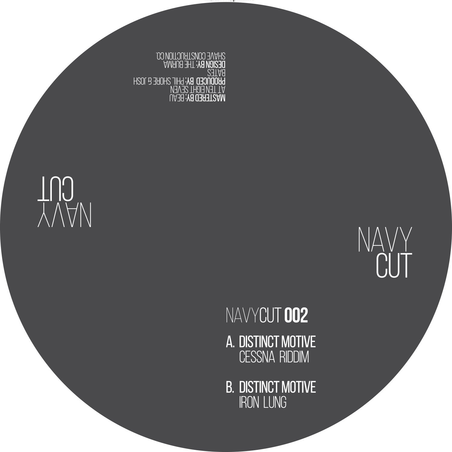 Distinct Motive - Cessna Riddim // Iron Lung , Vinyl - Navy Cut, Unearthed Sounds - 1