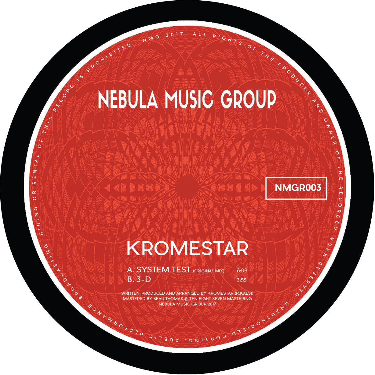 Kromestar - System Test / 3D , Vinyl - Nebula Music Group, Unearthed Sounds