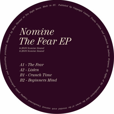 Nomine - The Fear EP - Unearthed Sounds