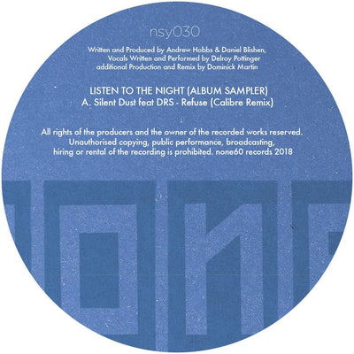 Silent Dust - Listen to the Night (LP Sampler) [w/ Calibre Remix] - Unearthed Sounds