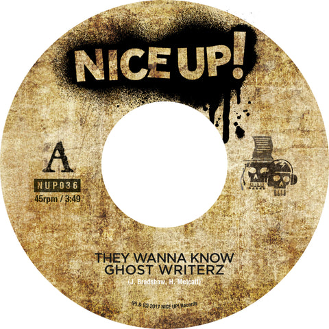 "Ghost Writerz - They Wanna Know / Dancehall Dub [7"" Vinyl]"