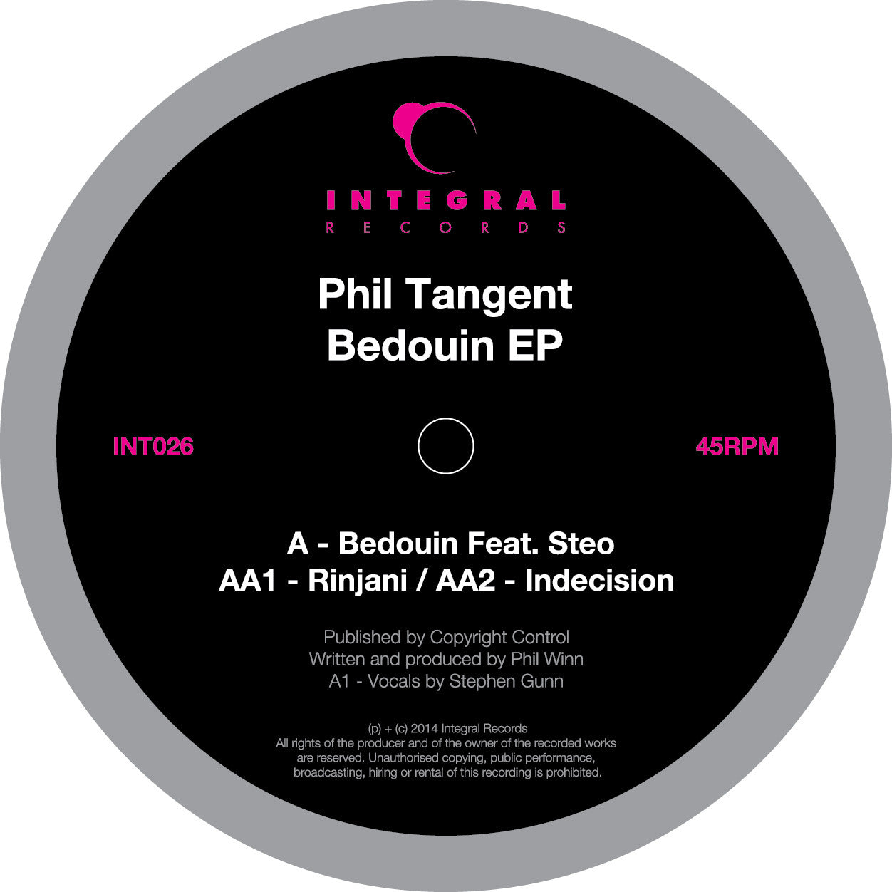 Phil Tangent - Bedouin EP - Unearthed Sounds