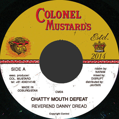 Reverend Danny Dread - Chatty Mouth Defeat - Unearthed Sounds
