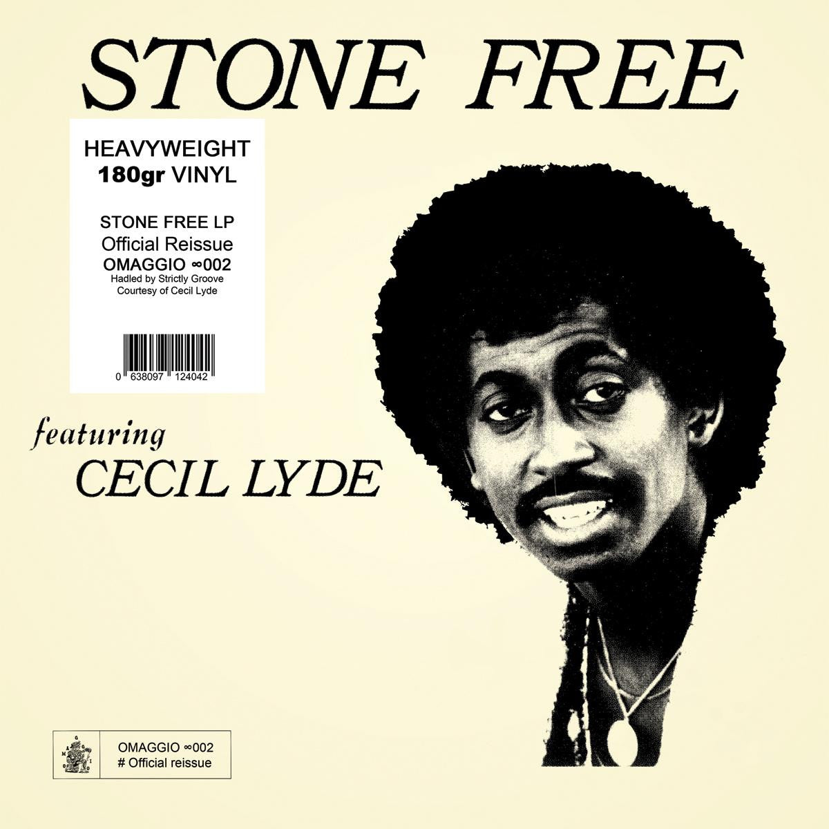 Cecil Lyde - Stone Free [180g | Official Re-issue] , Vinyl - Omaggio, Unearthed Sounds