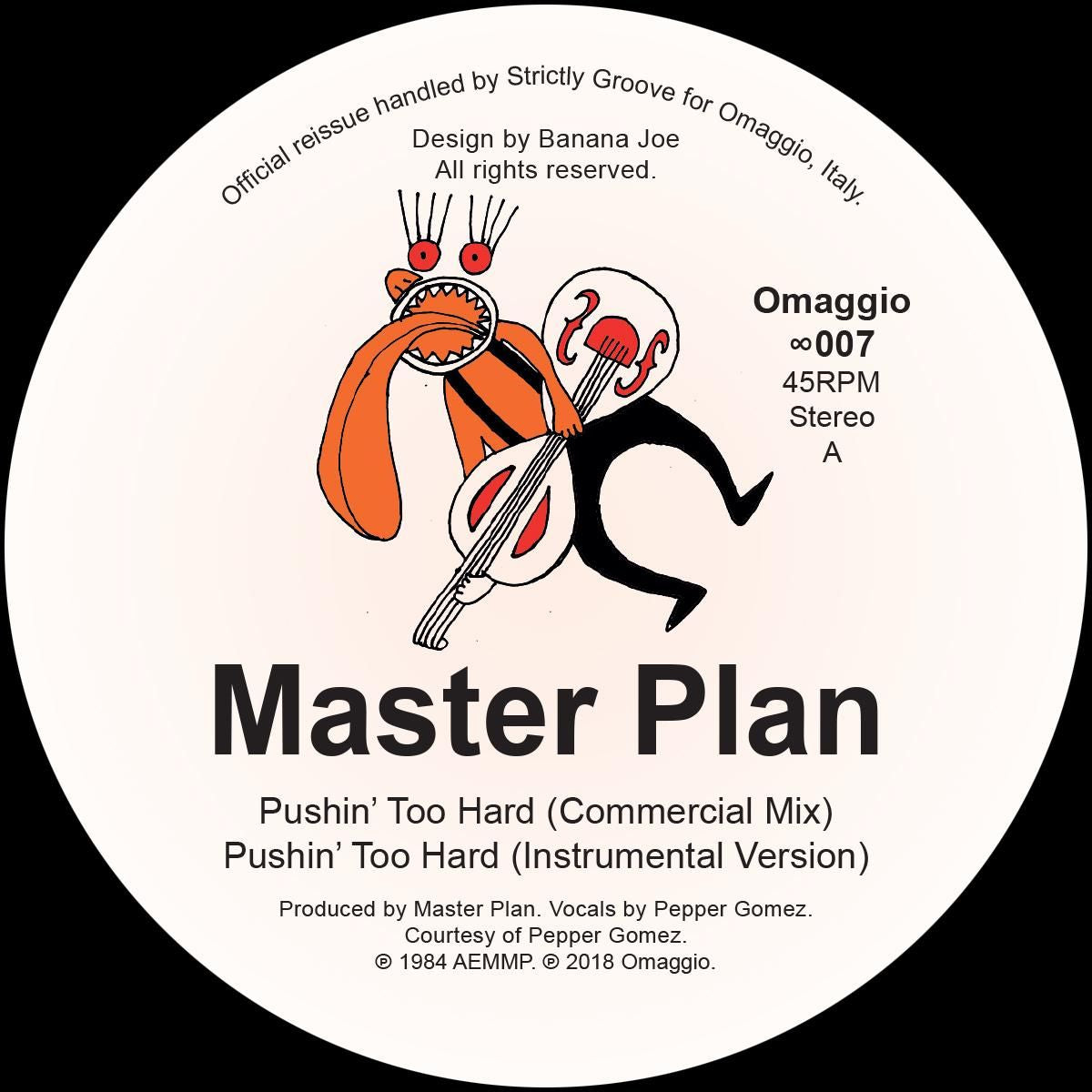 Master Plan - Pushin' Too Hard [official re-issue]