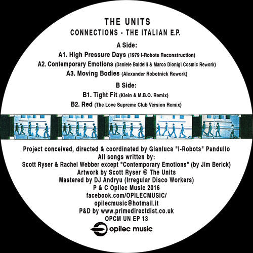 The Units - Connections (The Italian E.P.) , Vinyl - Opilec Music, Unearthed Sounds