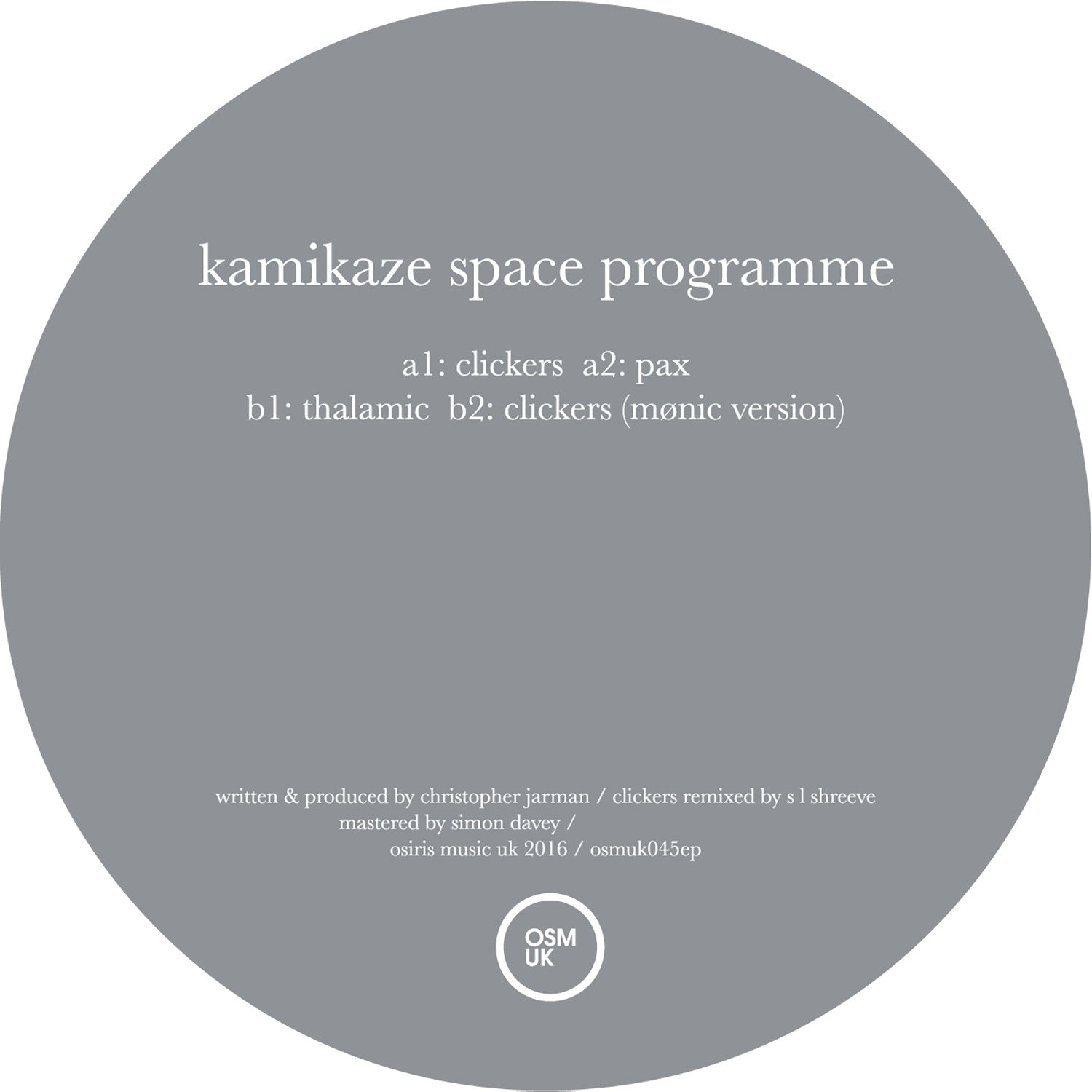Kamikaze Space Programme - Humanoid EP - Unearthed Sounds