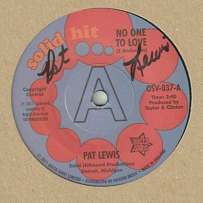 Pat Lewis - No One To Love / Look What I Almost Missed , Vinyl - Outta Sight, Unearthed Sounds