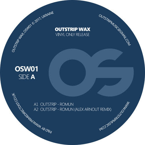 Outstrip - Romun EP , Vinyl - Outstrip Wax, Unearthed Sounds