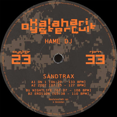 Hame DJ - Sandtrax EP - Unearthed Sounds