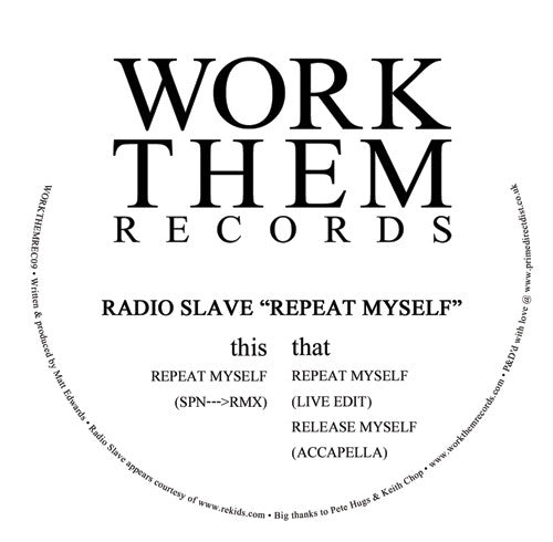 Radio Slave - Repeat Myself - Unearthed Sounds