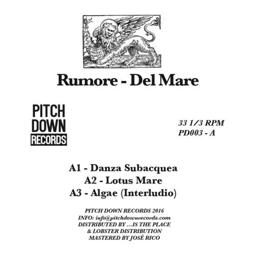 Rumore - Del Mare , Vinyl - Pitch Down, Unearthed Sounds