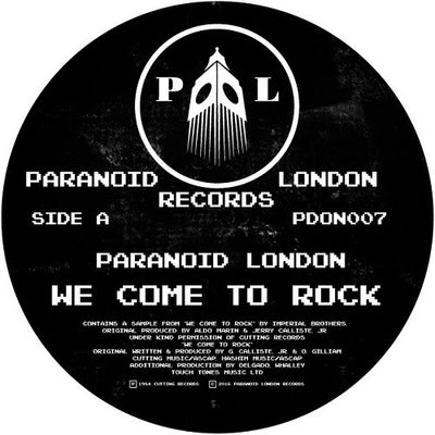 Paranoid London - We Come To Rock - Unearthed Sounds, Vinyl, Record Store, Vinyl Records