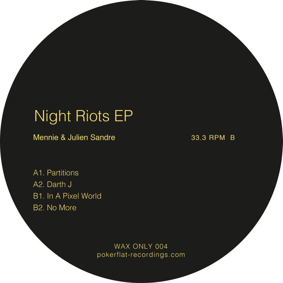 Mennie & Julien Sandre - Night Riots Ep , Vinyl - Poker Flat, Unearthed Sounds