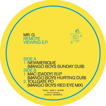 Mr. G - Remote Viewing EP , Vinyl - Phoenix G, Unearthed Sounds