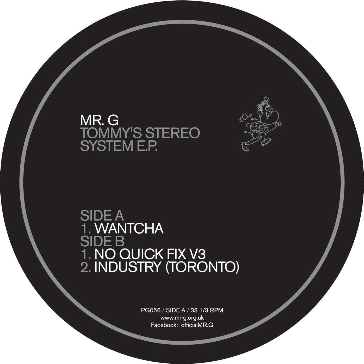 Mr. G - Tommy's Stereo System EP , Vinyl - Phoenix G, Unearthed Sounds