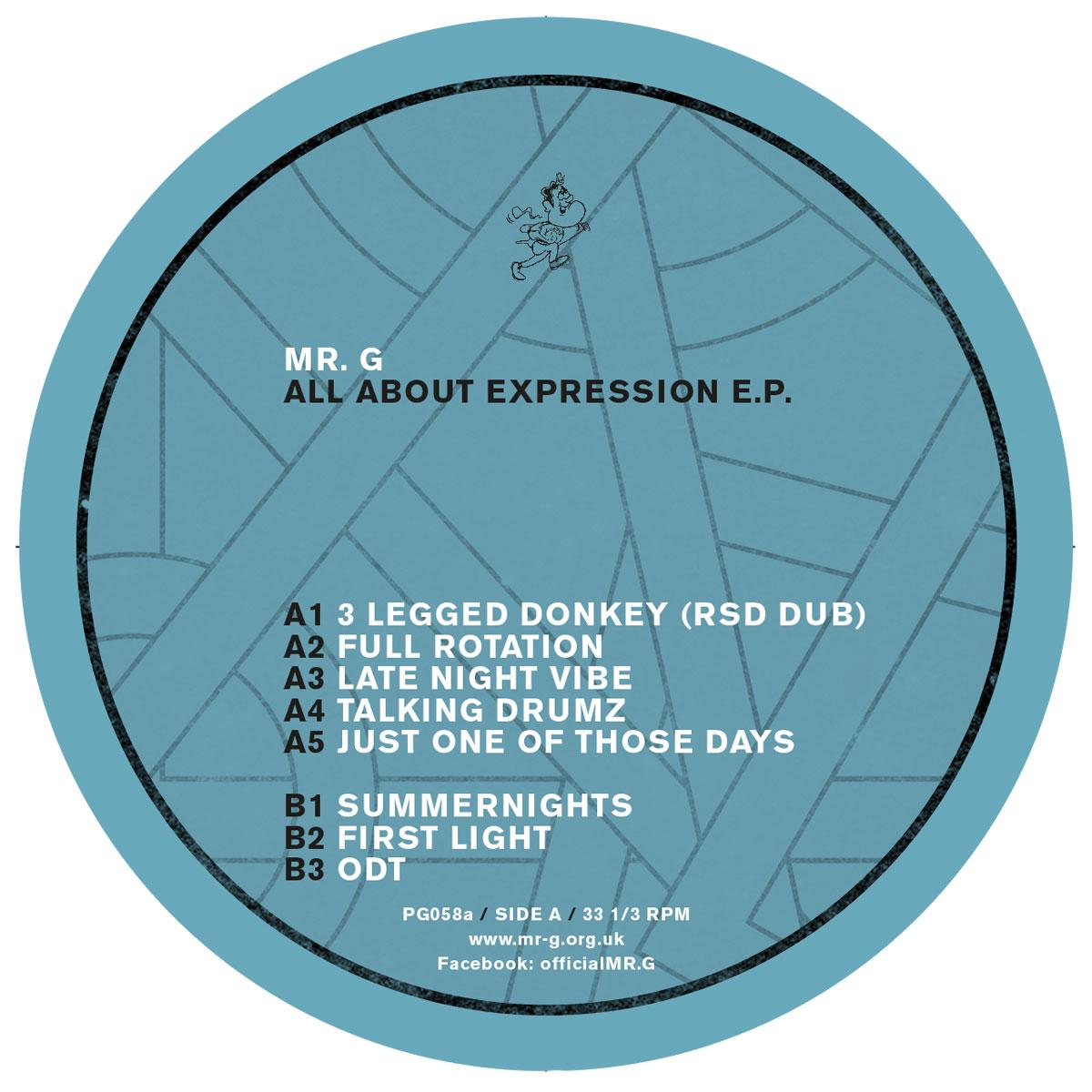 Mr. G - All About Expression EP