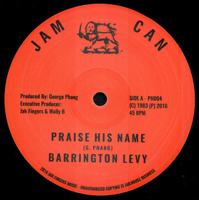 Barrington Levy - Praise His Name - Unearthed Sounds