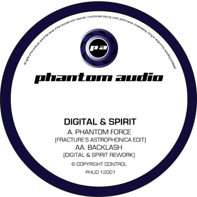 Digital & Spirit - Phantom Force (Fracture's Astrophonica Edit) // Backlash (Digital & Spirit Rework) - Unearthed Sounds, Vinyl, Record Store, Vinyl Records