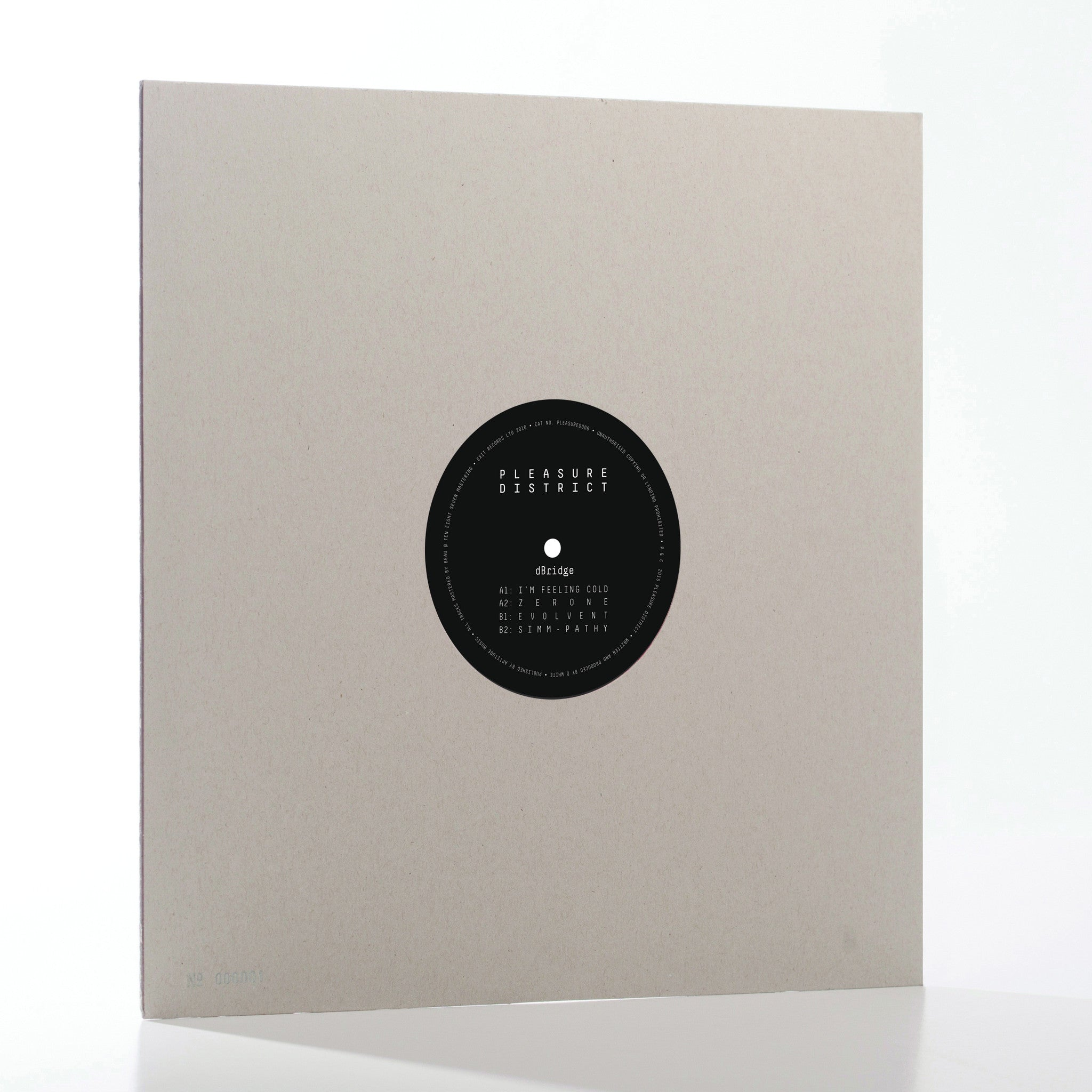 dBridge - PleasureDistrict006 , Vinyl - Pleasure District, Unearthed Sounds