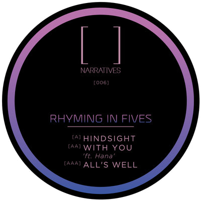 Rhyming In Fives - Hindsight EP - Unearthed Sounds, Vinyl, Record Store, Vinyl Records