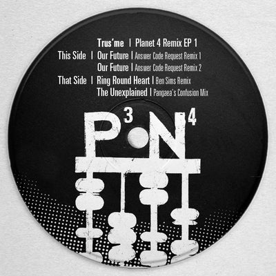 Trus'me - Planet 4 Remix EP 1 (w/ Ben Sims & Pangaea Remixes) - Unearthed Sounds, Vinyl, Record Store, Vinyl Records