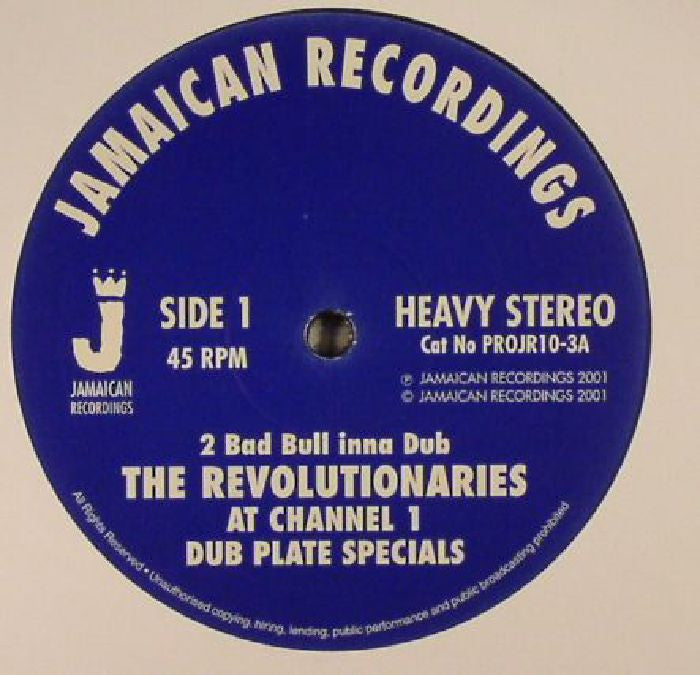 "The Revolutionaries - 2 Bad Bull Inna Dub [10"" Vinyl] , Vinyl - Jamaican Recordings, Unearthed Sounds"