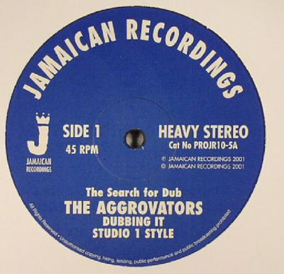 "The Aggrovators - The Search for Dub [10"" Vinyl] - Unearthed Sounds"