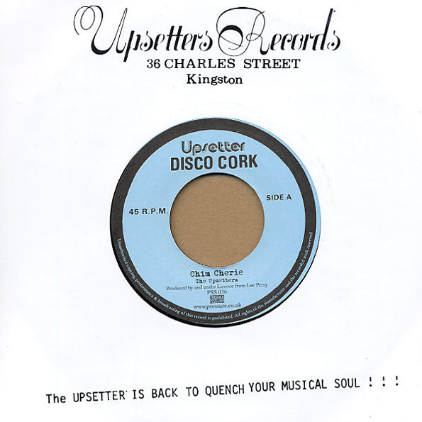 The Upsetters - Chim Cherie , Vinyl - Pressure Sounds, Unearthed Sounds