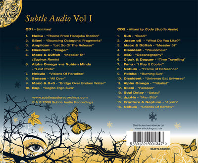 Subtle Audio Vol I - 2xCD - Unearthed Sounds, Vinyl, Record Store, Vinyl Records