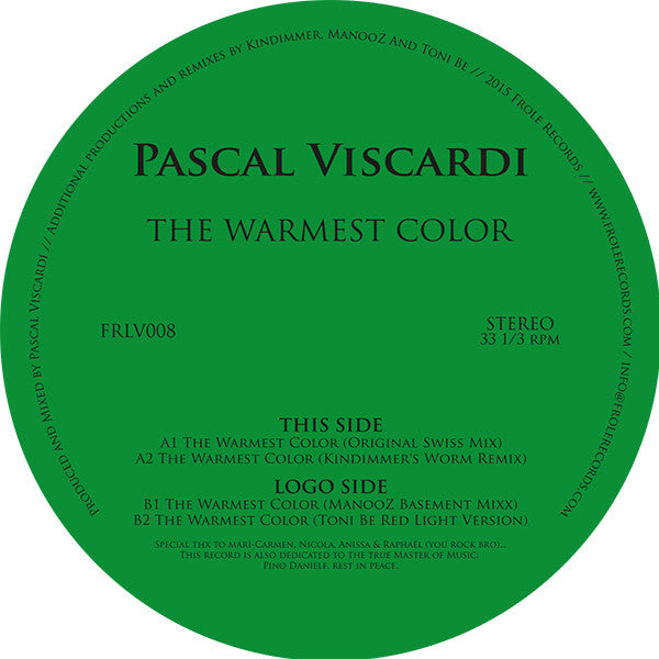 Pascal Viscardi - The Warmest Color - Unearthed Sounds