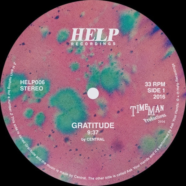 Central - Gratitude / Ask Your Hands - Unearthed Sounds