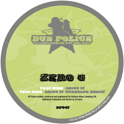 Zero G - Bring It - Unearthed Sounds