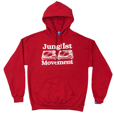 Junglist Movement Hoodie (Red) - Unearthed Sounds
