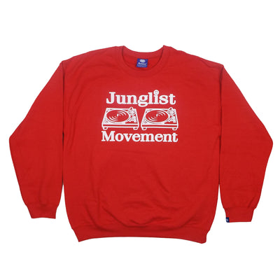 Junglist Movement Sweatshirt (Red) - Unearthed Sounds