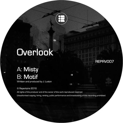 Overlook - Misty / Motif [Black Vinyl Repress] - Unearthed Sounds