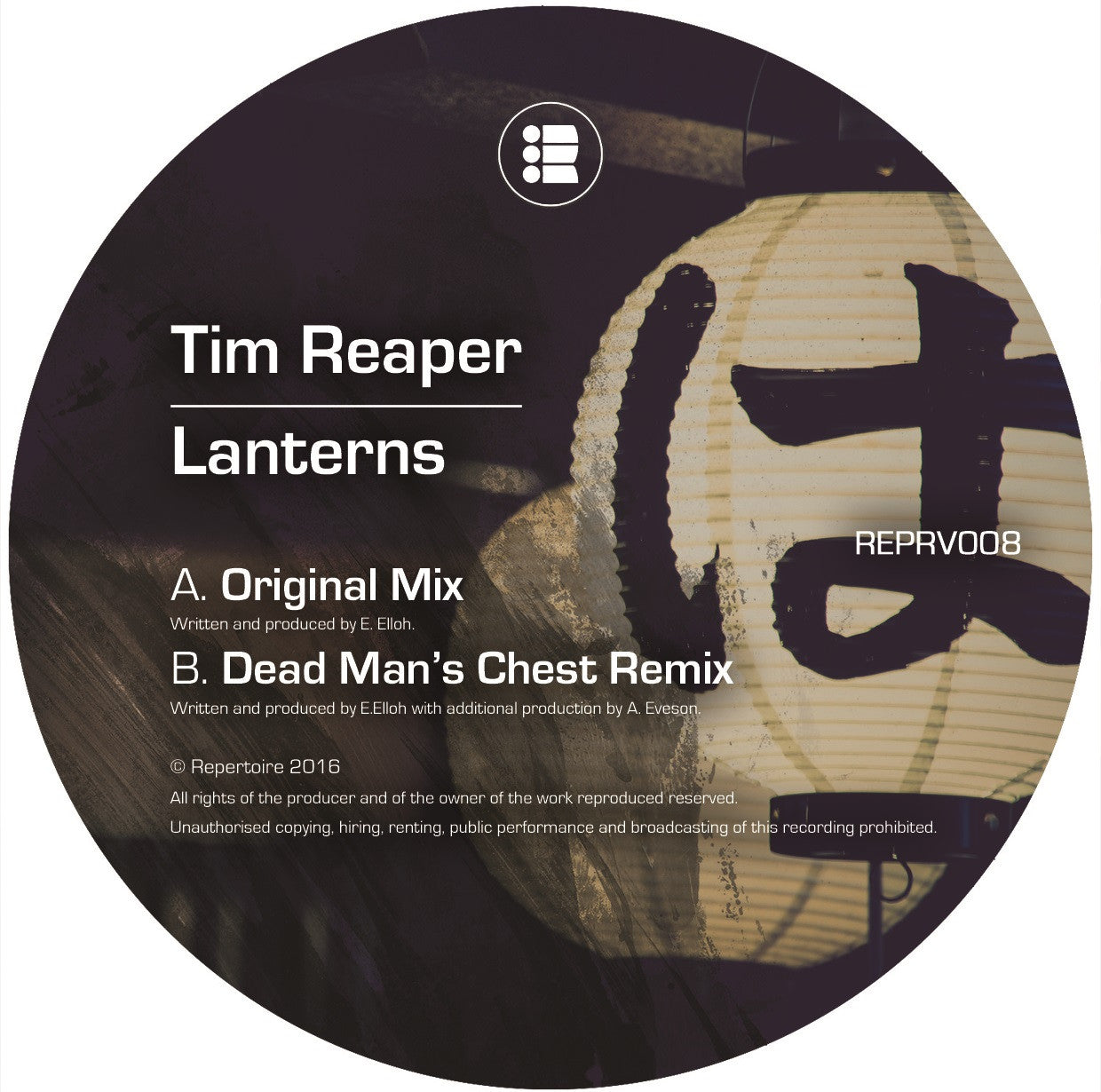 Tim Reaper - Lanterns // Dead Man's Chest Remix , Vinyl - Repertoire, Unearthed Sounds