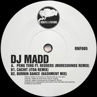 DJ Madd - Peng Teng ft. Redders (Moresounds Remix) , Vinyl - Roots and Future, Unearthed Sounds