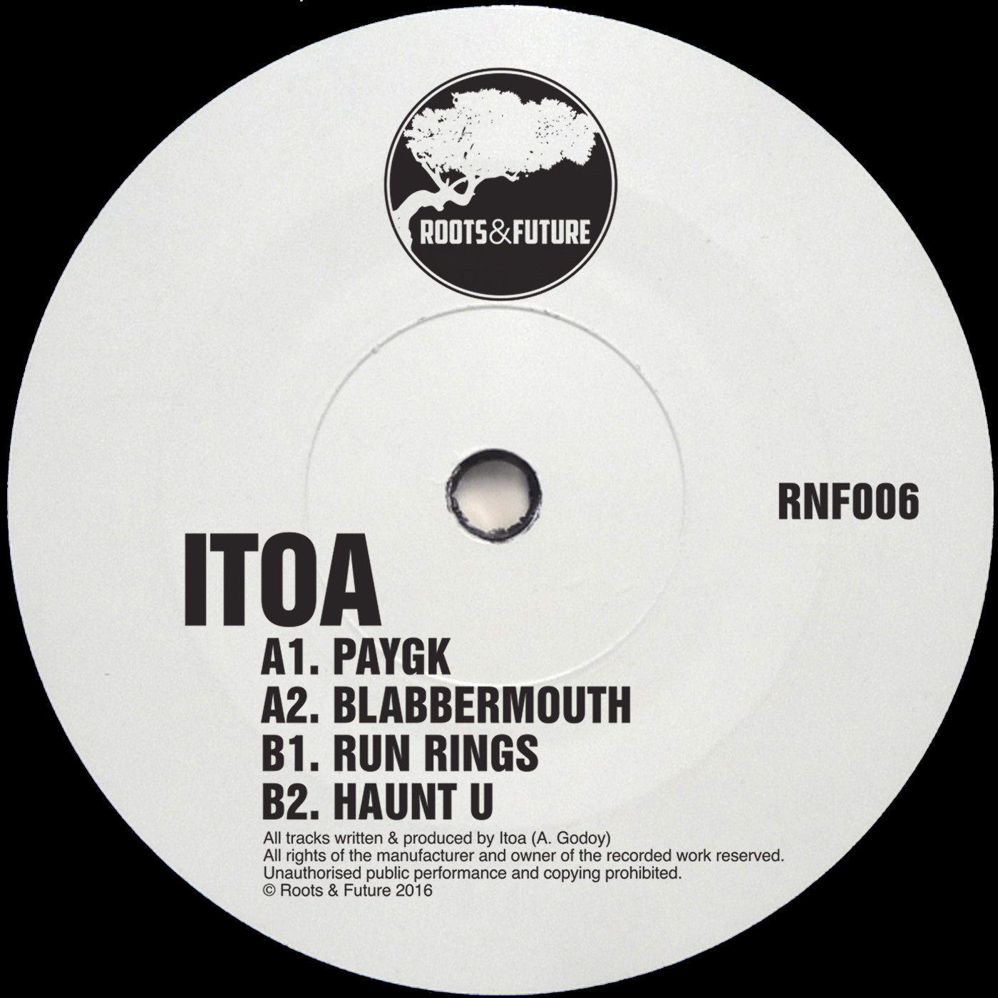 Itoa - RNF006 , Vinyl - Roots & Future, Unearthed Sounds