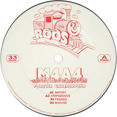 "M4A4 - Forever Underground EP [Red 12"" Vinyl] - Unearthed Sounds"