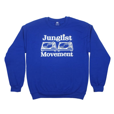 Junglist Movement Sweatshirt (Blue) - Unearthed Sounds